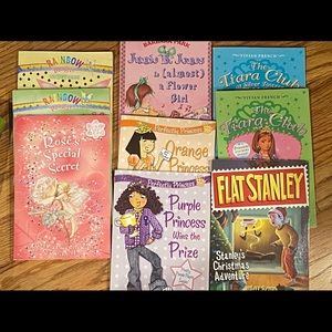 Lot of 9 early chapter books -princess, fairies